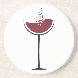 Wine glass beverage coasters