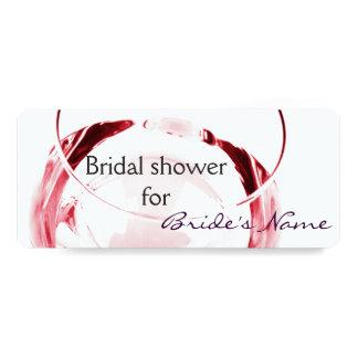 wine glass bridal shower invite