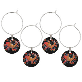 Wine Glass charms with fish