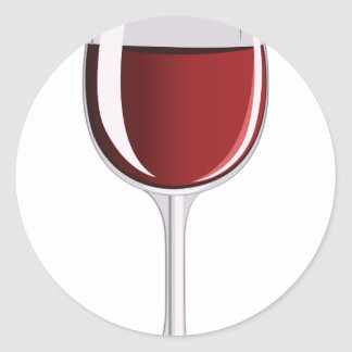 Wine Glass Classic Round Sticker