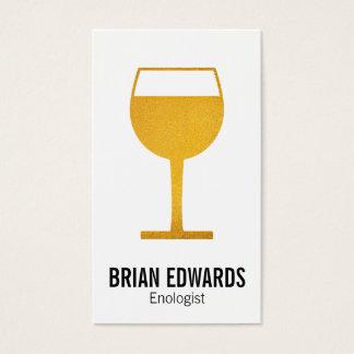 Wine Glass | Full (yellow) Business Card