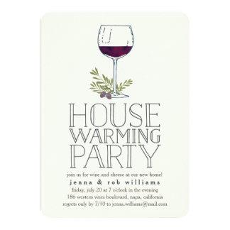 Wine Glass Housewarming Party Invitation