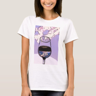 Wine Glass in the Sky T-Shirt