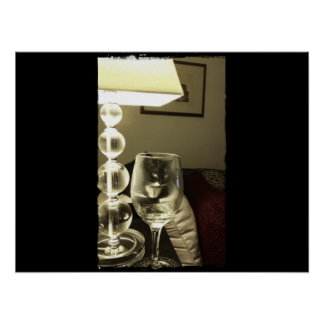 Wine Glass Lucy Poster