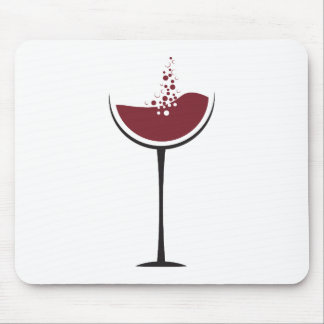 Wine glass mouse pad