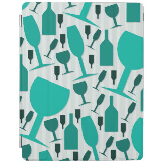 Wine glass pattern iPad cover