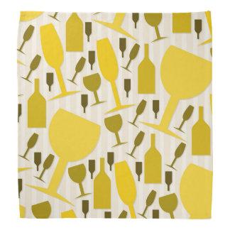 Wine glass pattern kerchiefs