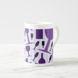 Wine glass pattern tea cup