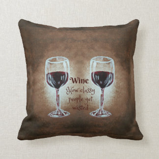 Wine Glass Pillow