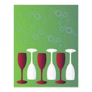 Wine glasses 21.5 cm x 28 cm flyer