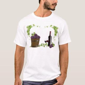 Wine glasses and wine barrel T-Shirt