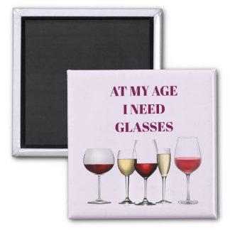Wine glasses expression magnet