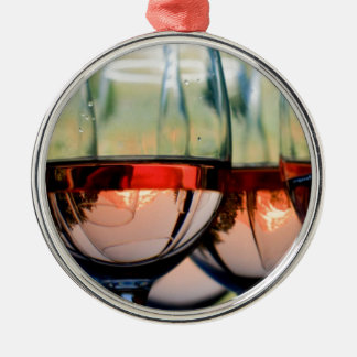 Wine Glasses Filled with Mount Hood Christmas Ornament