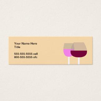 Wine Glasses Mini Business Card