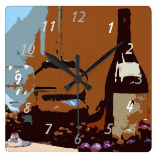 Wine Grapes Elegant Modern Kitchen Clocks