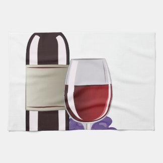 Wine & Grapes Kitchen Towel