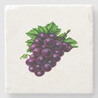 Wine Grapes Purple Stone Coaster