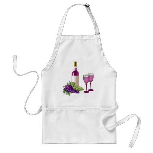 Wine & Grapes Toast Apron
