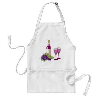 Wine & Grapes Toast Standard Apron