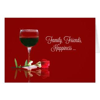 Wine Happy Birthday Card, Family, Friends Card