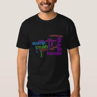 Wine Harvest Words T-shirts