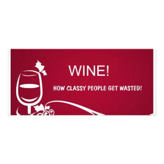 Wine illustration rack card template