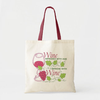 Wine Improves With Age Budget Tote Bag