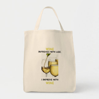 Wine Improves with Age Photograph Customisable Tote Bag