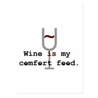 Wine is my comfort food postcard