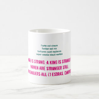 Wine is strong, women are stronger still… coffee mug