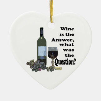 Wine is the answer, what was the question? Gits Ceramic Heart Decoration
