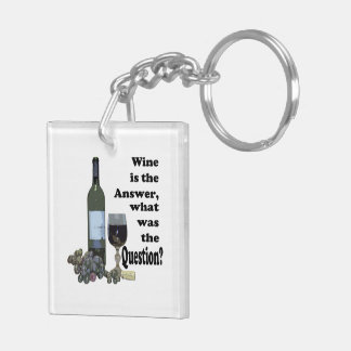Wine is the answer what was the question? Keychain