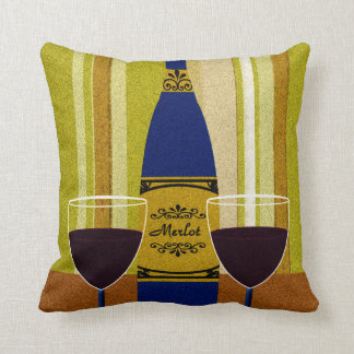 Wine It's Not Good To Keep Things Bottled Up Throw Pillow
