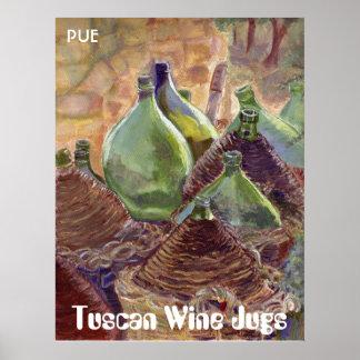 Wine jugs 300008, Tuscan Wine Jugs, PUE Posters