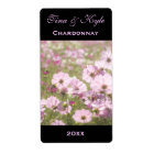 Wine Label Template Pink Cosmos Flower Meadow