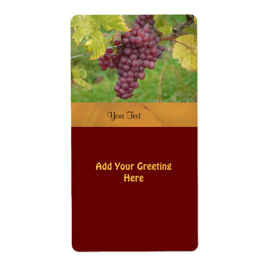 Wine Label Template Shipping Label