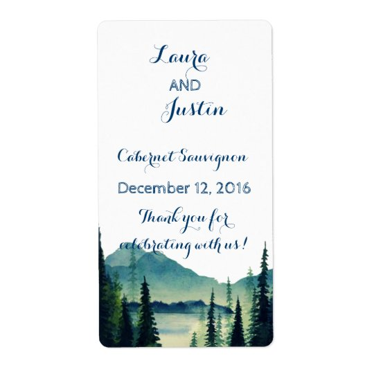 Wine Labels - Camping Wedding