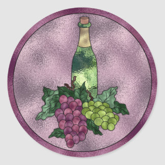 Wine Love Classic Round Sticker