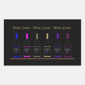 WINE LOVER_6 BOTTLE RECTANGULAR STICKER