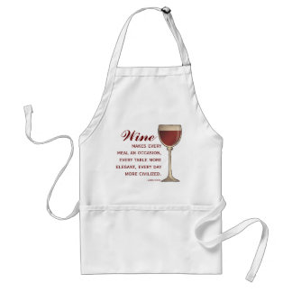 Wine Lover Elegant Wineglass of Red with Quote Apron