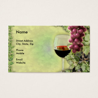 Wine Lover..? Master of the Art of Making Wine..? Business Card