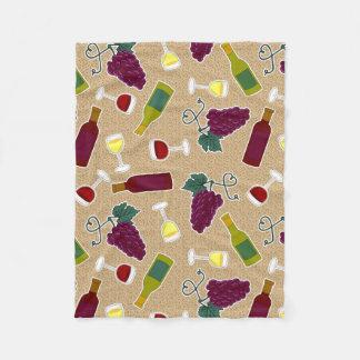 Wine Lover Pattern Fleece Blanket