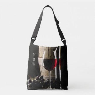Wine Lover's custom monogram bags