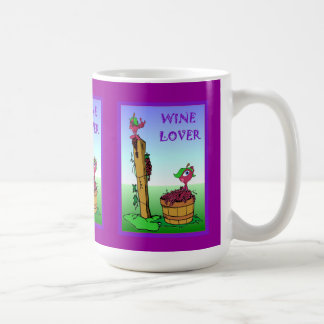 Wine lovers, grapes coffee mug