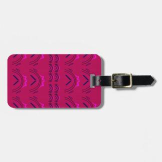 Wine luxury orient texture luggage tag