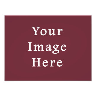 Wine Magenta Color Trend Blank Template Photographic Print