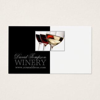 Wine Maker Sommelier Winery Black & White Card