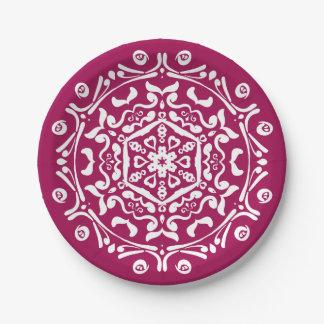 Wine Mandala 7 Inch Paper Plate