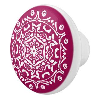 Wine Mandala Ceramic Knob