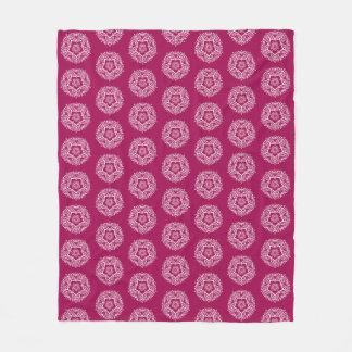 Wine Mandala Fleece Blanket